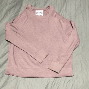 Victoria Sport open shoulder sweatshirt